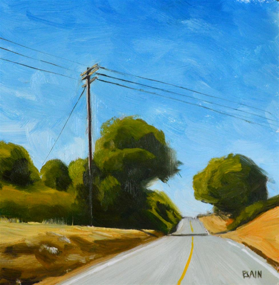"""Page Mill Road"" original fine art by Peter Bain"