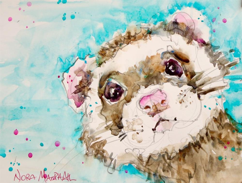 """""""Who me?"""" original fine art by Nora MacPhail"""