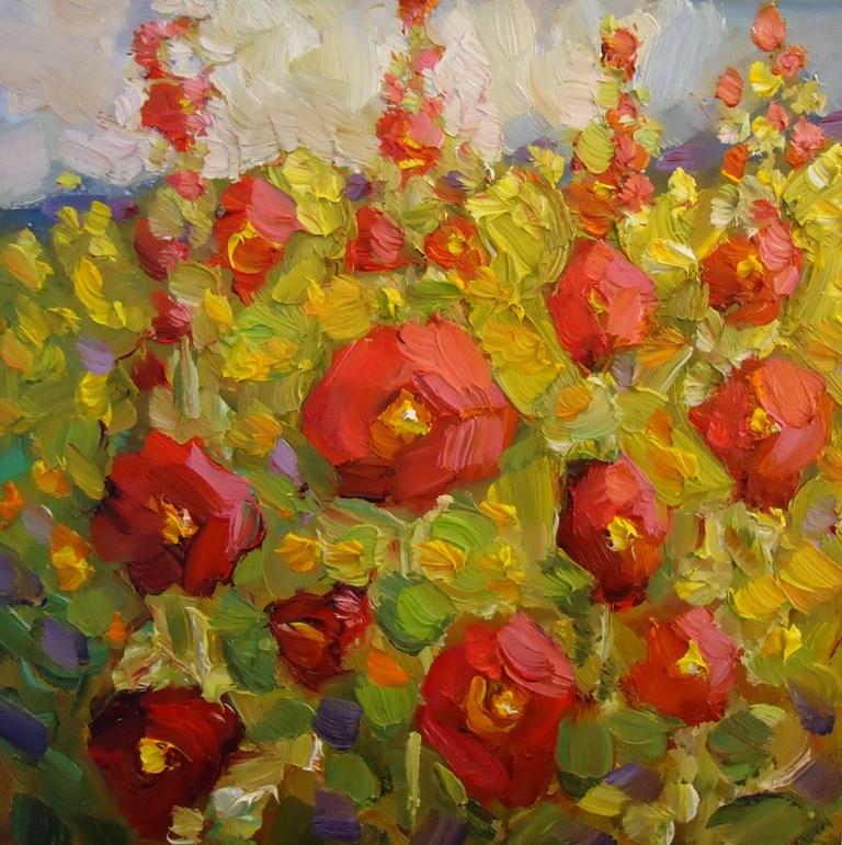 """134 THE RED ONES"" original fine art by Dee Sanchez"