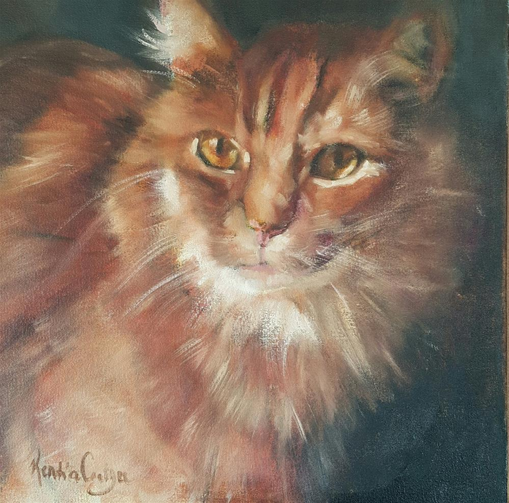 """Cat on fire"" original fine art by Rentia Coetzee"