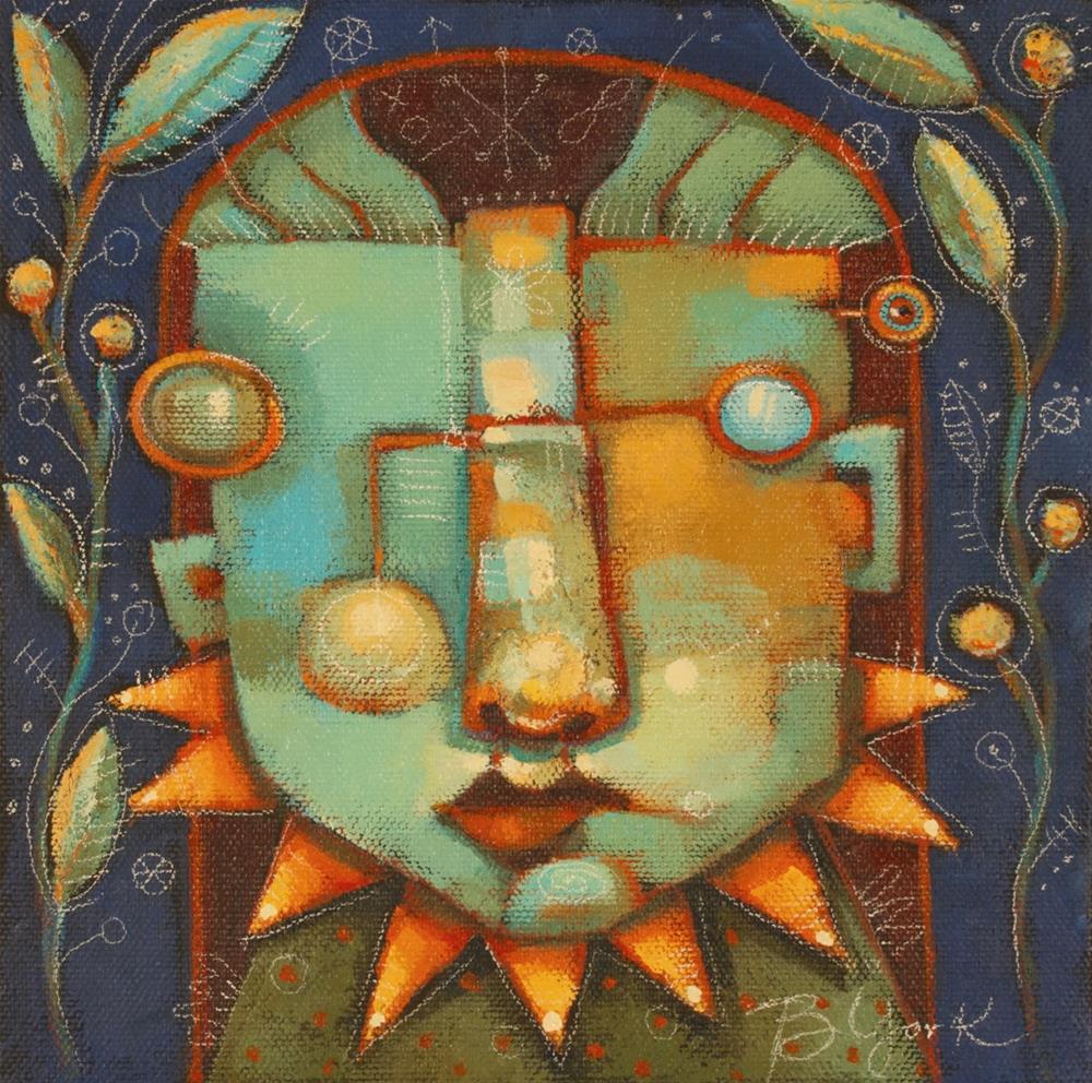 """Max In The Dark Garden"" original fine art by Brenda York"