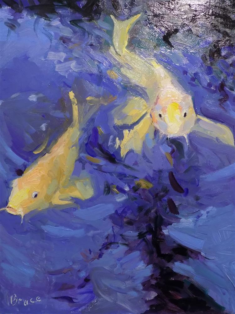 """Koi Fish"" original fine art by Rita Brace"