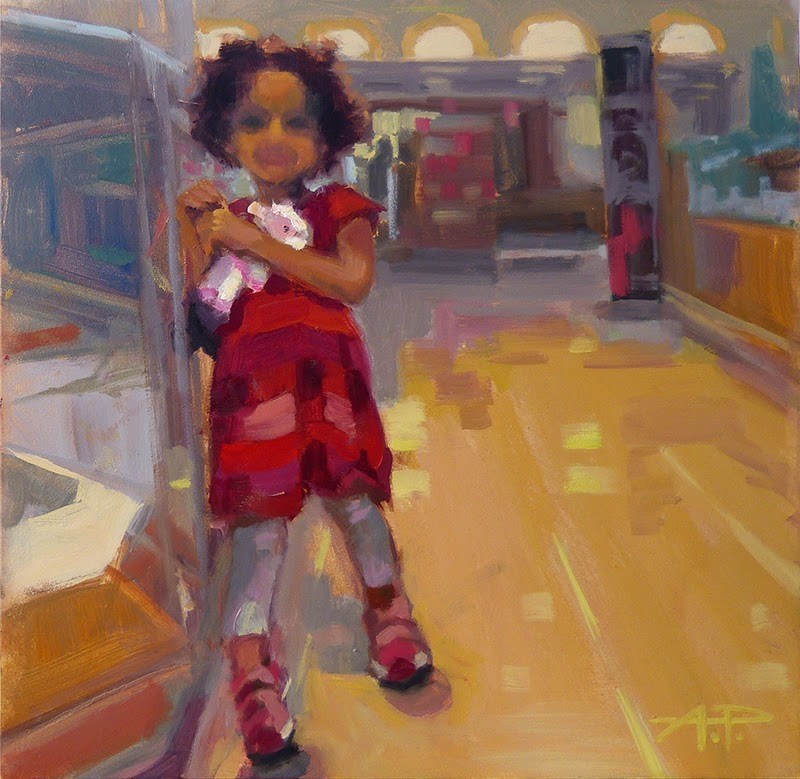 """""""Day 6 of 30 - With Lambie..."""" original fine art by Anette Power"""