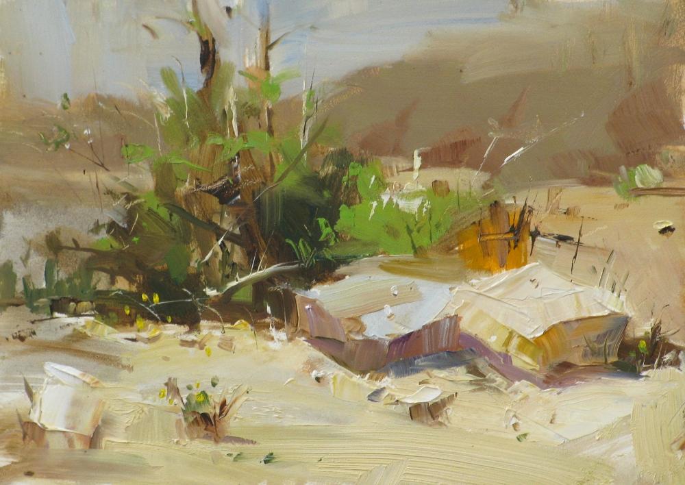 """""""Dried Up Creek"""" original fine art by Qiang Huang"""