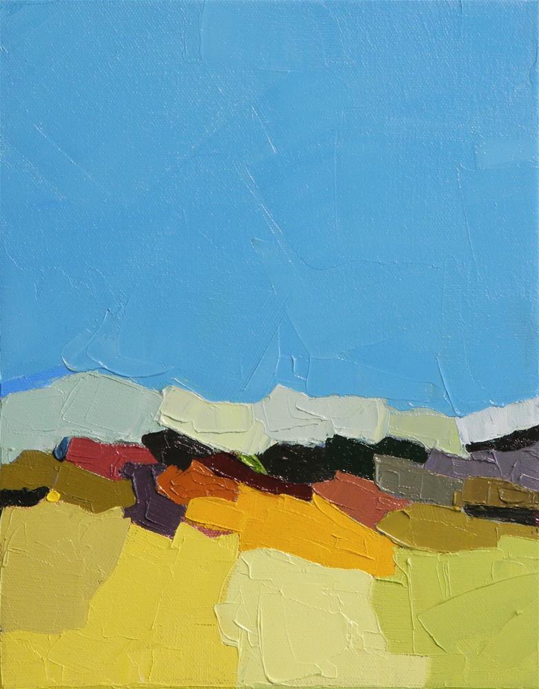 """Terrain XII"" original fine art by Donna Walker"