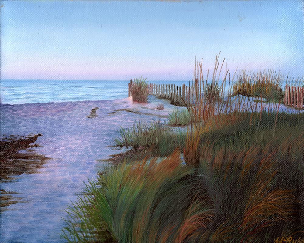 """Sunset on the Beach"" original fine art by Catherine Al-Rubaie"