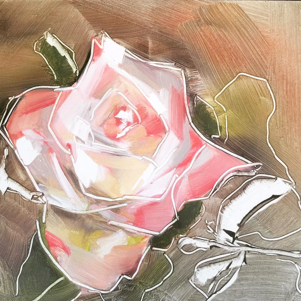 """495 Korean Rose"" original fine art by Jenny Doh"