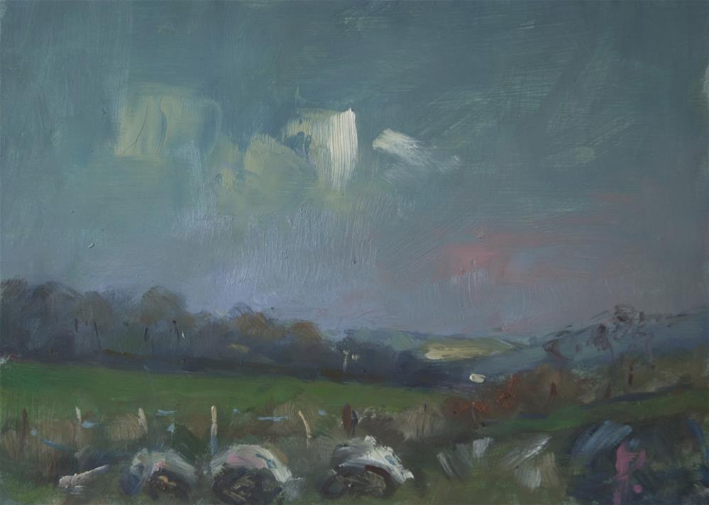 """Farmland at Angmering"" original fine art by Andre Pallat"