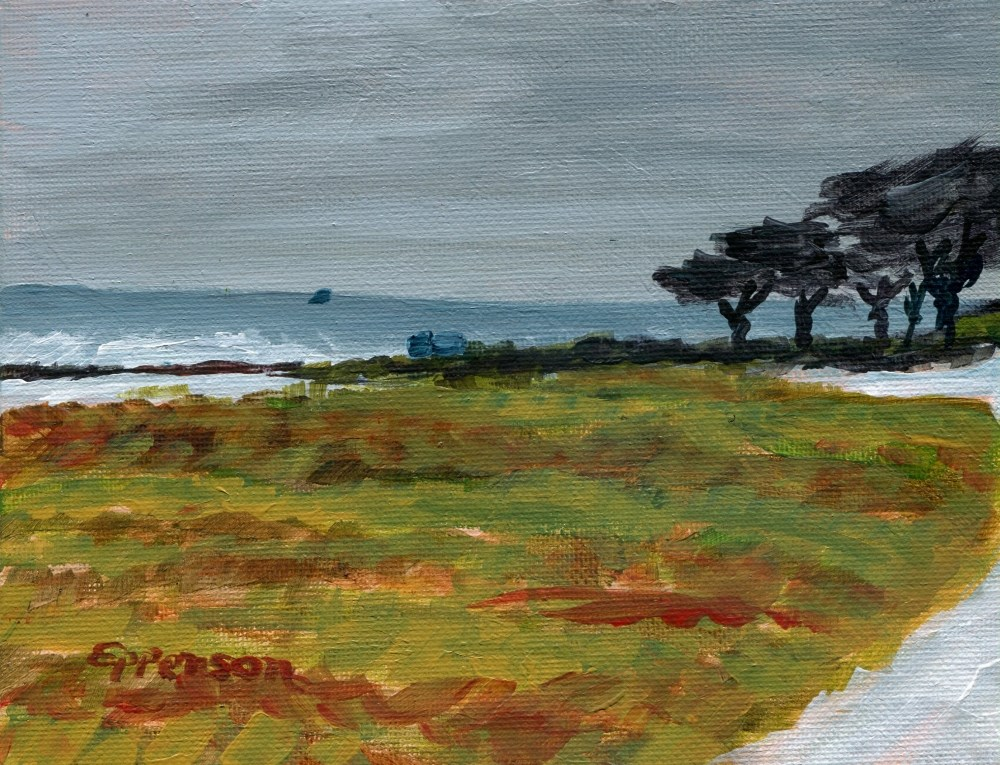 """""""Pacific Grove"""" original fine art by Stanley Epperson"""