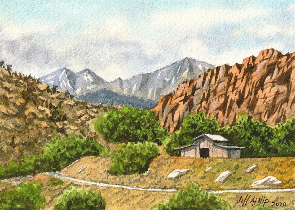 """Hillside Vista"" original fine art by Jeff Atnip"