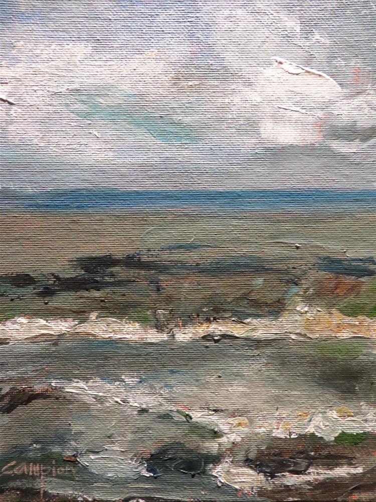 """574 Plymouth Beach, Massachusetts"" original fine art by Diane Campion"