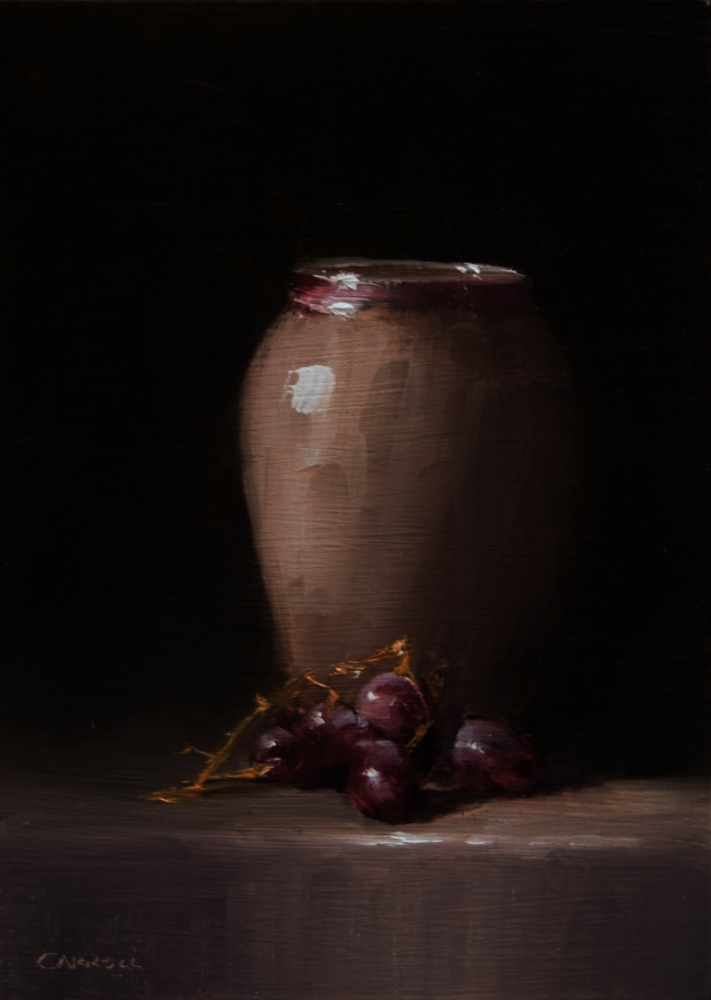 """Vase with Grapes"" original fine art by Neil Carroll"