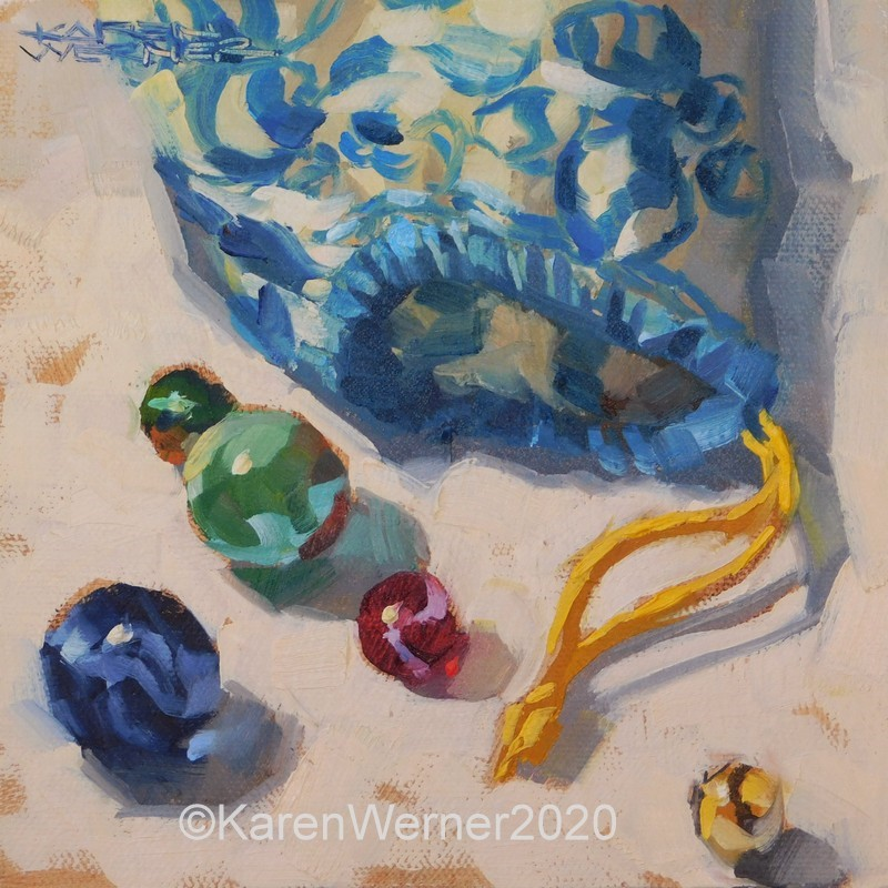 """Merry Marbles"" original fine art by Karen Werner"