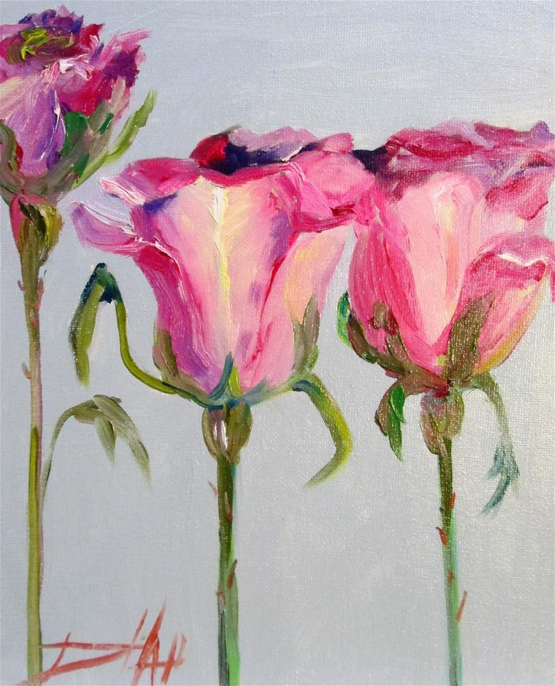 """""""Pink Roses No. 2"""" original fine art by Delilah Smith"""