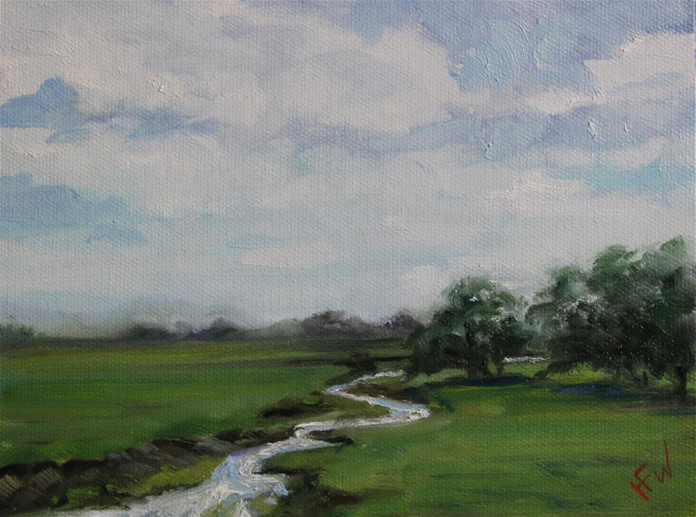"""Winding Stream"" original fine art by H.F. Wallen"