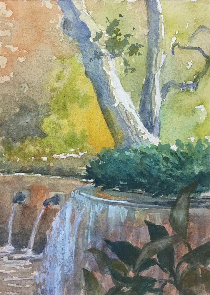 """""""Falling Water"""" original fine art by Robyn Jorde"""