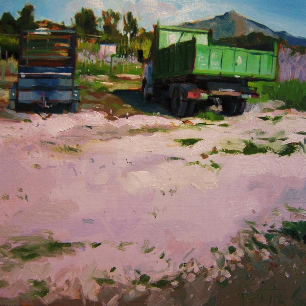 """""""Old truck"""" original fine art by Víctor Tristante"""