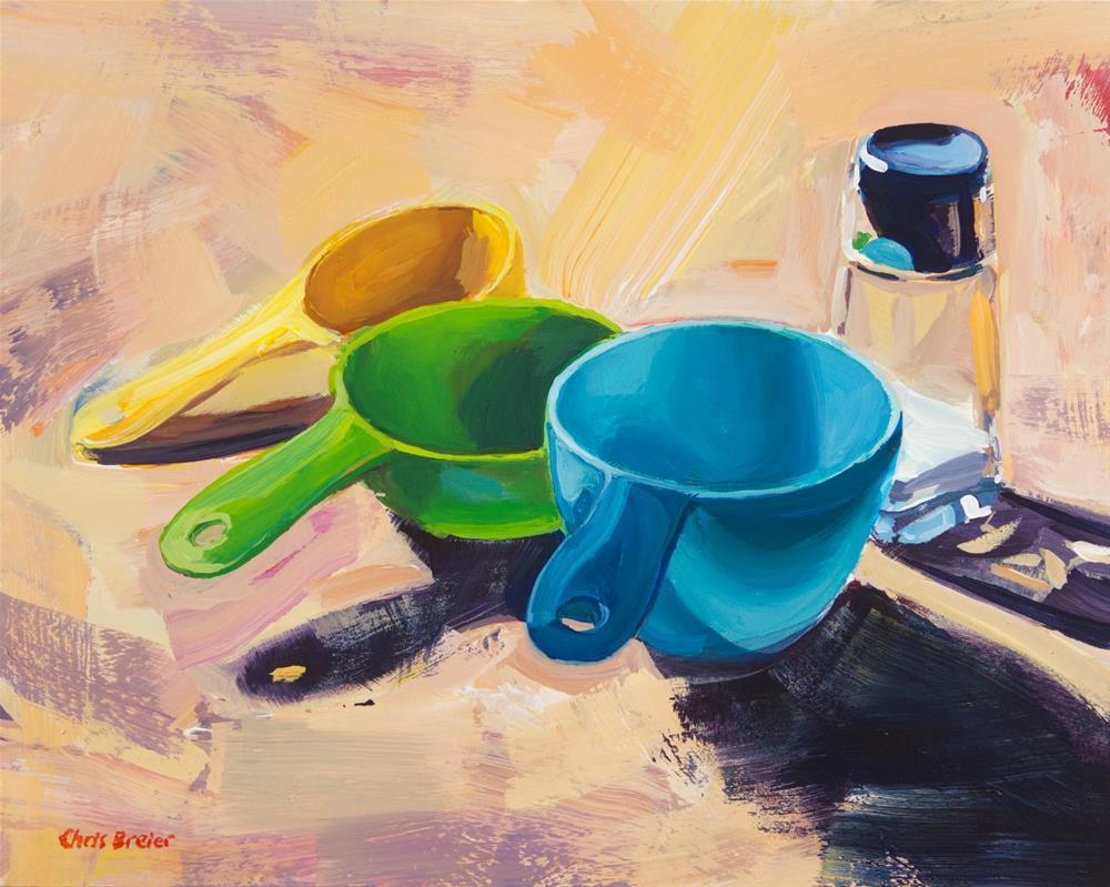 """Measuring Cups"" original fine art by Chris Breier"
