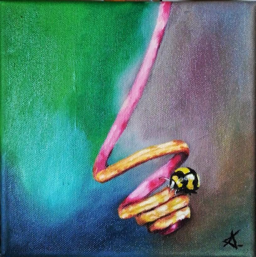 """The spiral of life"" original fine art by Konstantia Karletsa"