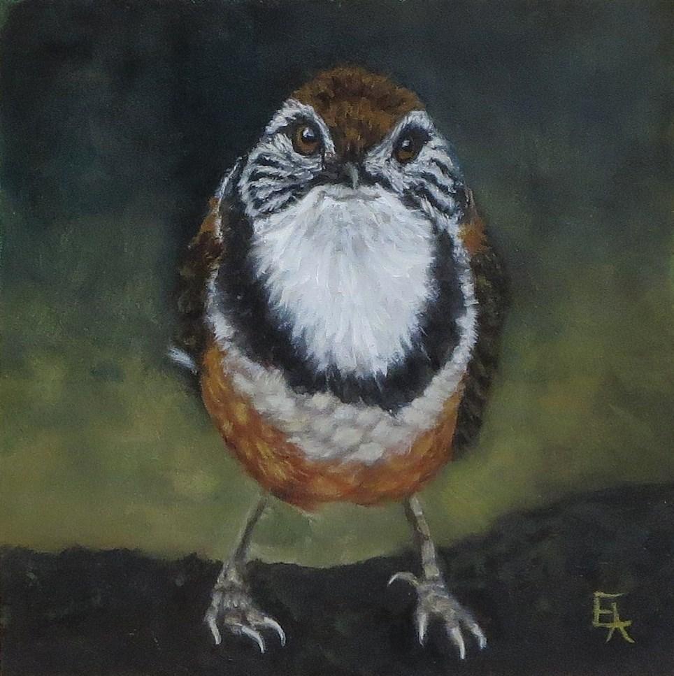 """""""Look at the Birdie!"""" original fine art by Elizabeth Elgin"""