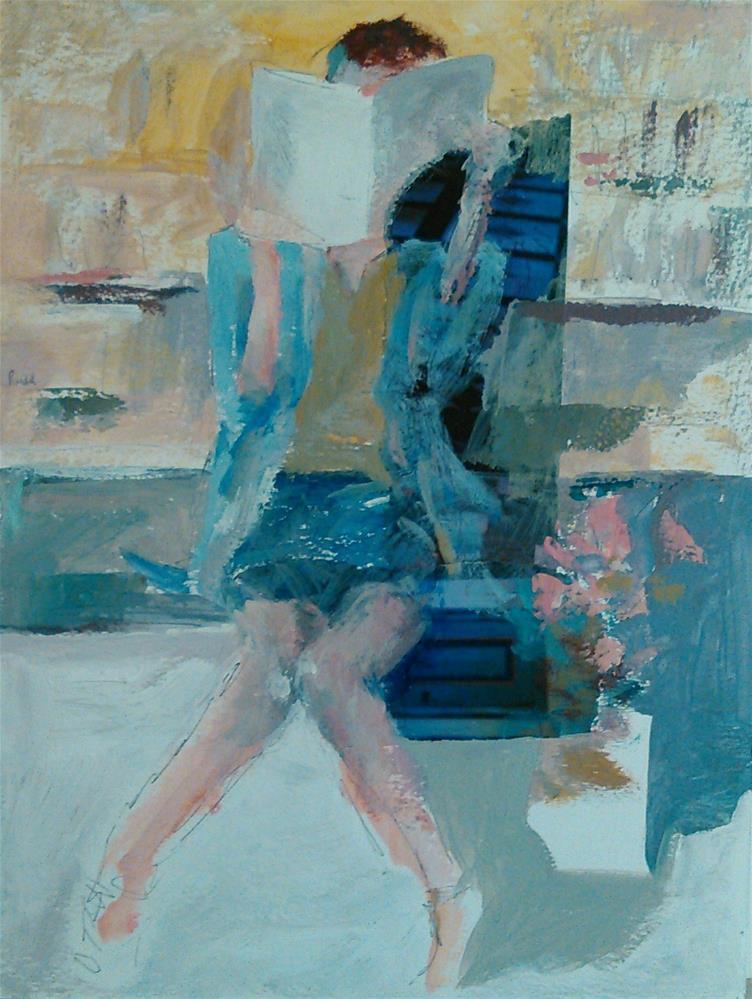 """The Reader"" original fine art by Ann Rudd"