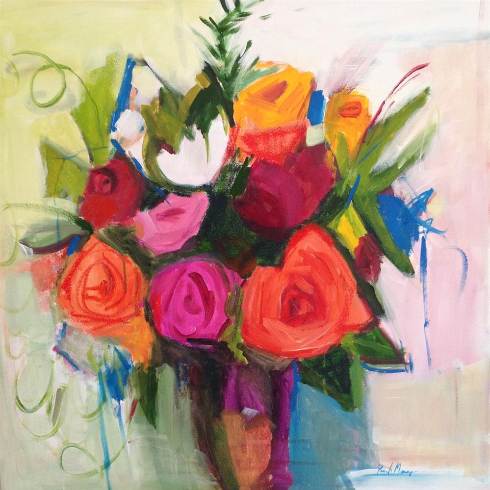 """Bloom Brightly"" original fine art by Pamela Munger"