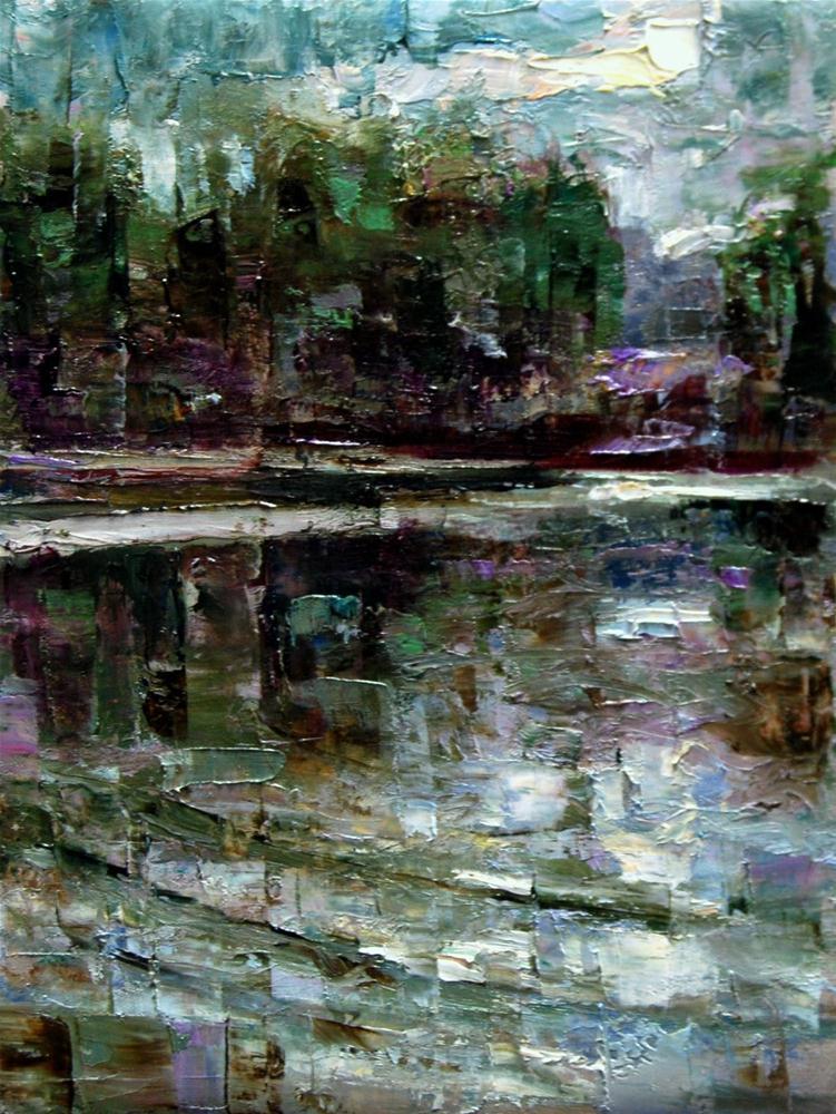 """Moonlight Reflections"" original fine art by Julie Ford Oliver"