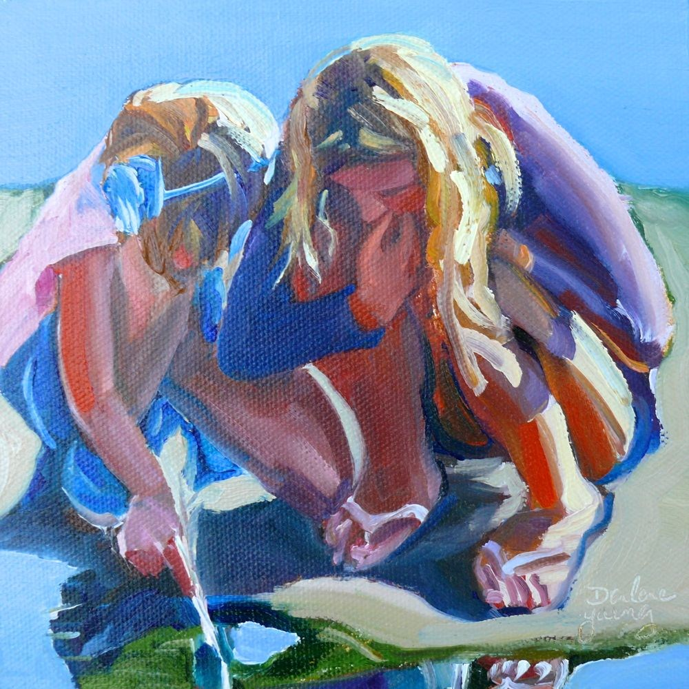 """534 Marine Biologists"" original fine art by Darlene Young"