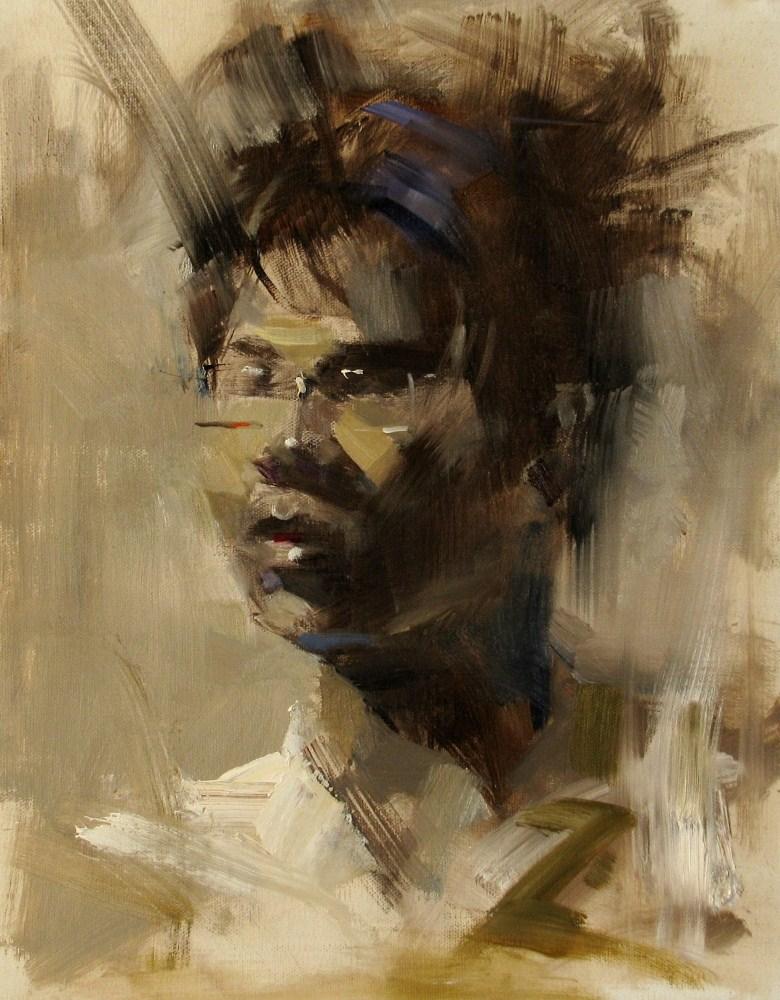 """""""Jonathan"""" original fine art by Qiang Huang"""