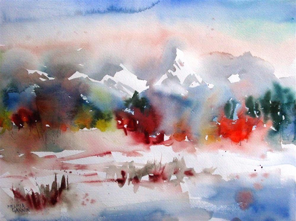 """Snow in the Mountains"" original fine art by Melissa Gannon"