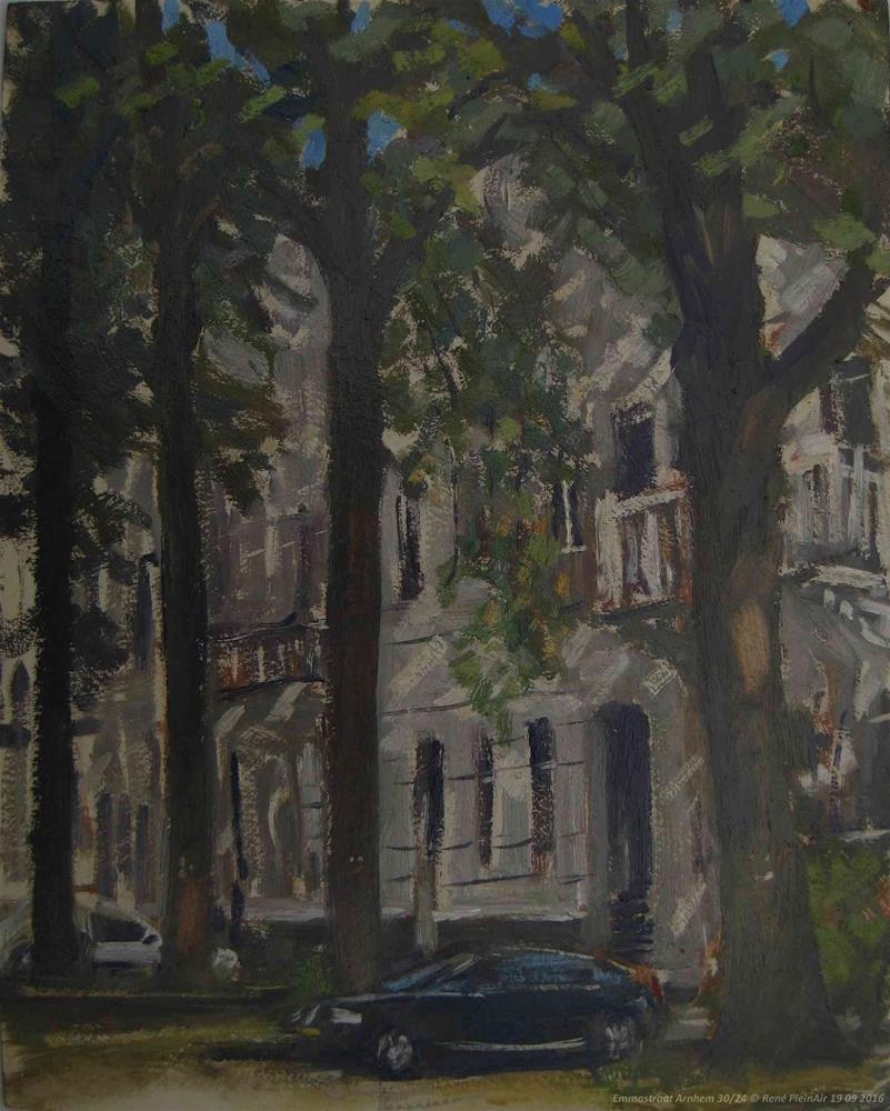 """Emmastreet. Arnhem. The Netherlands"" original fine art by René PleinAir"