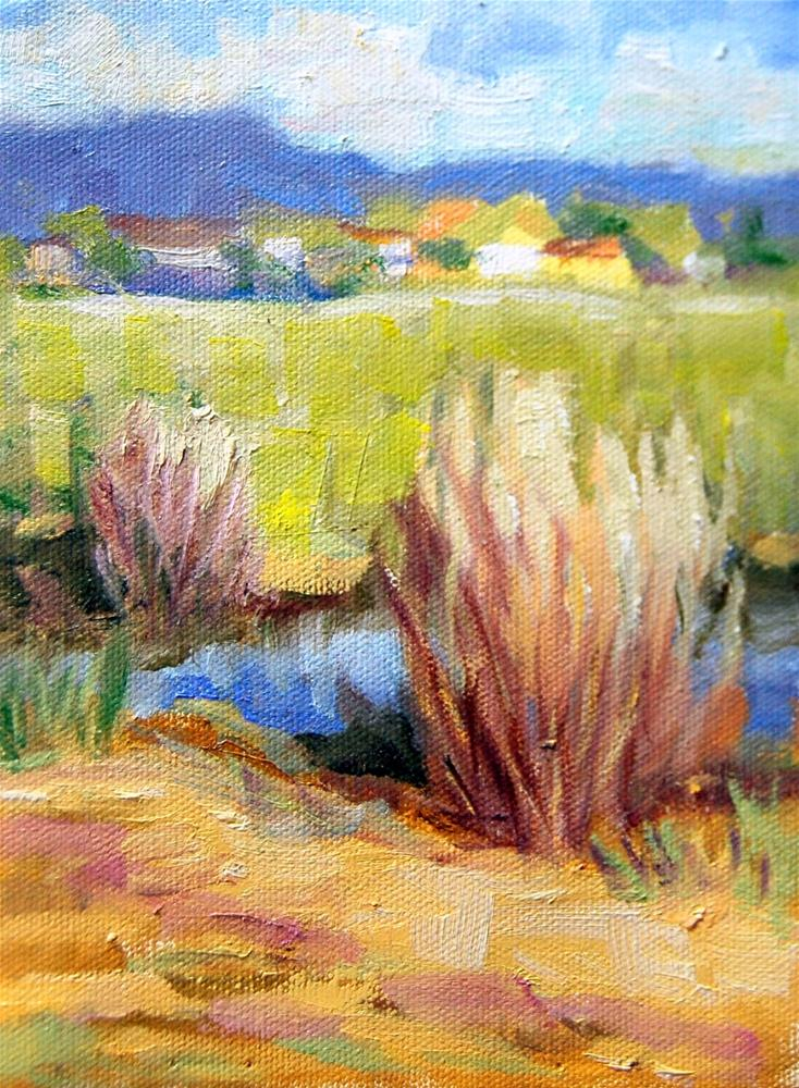 """""""Across the Field"""" original fine art by Julie Ford Oliver"""