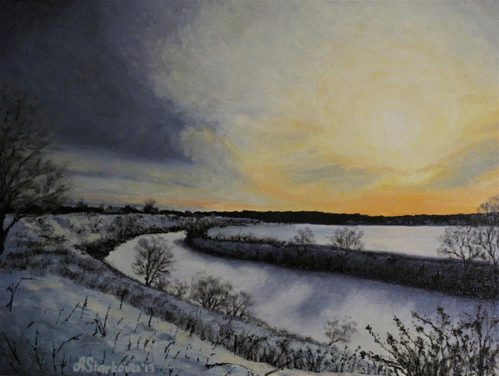 """Evening light"" original fine art by Anna Starkova"