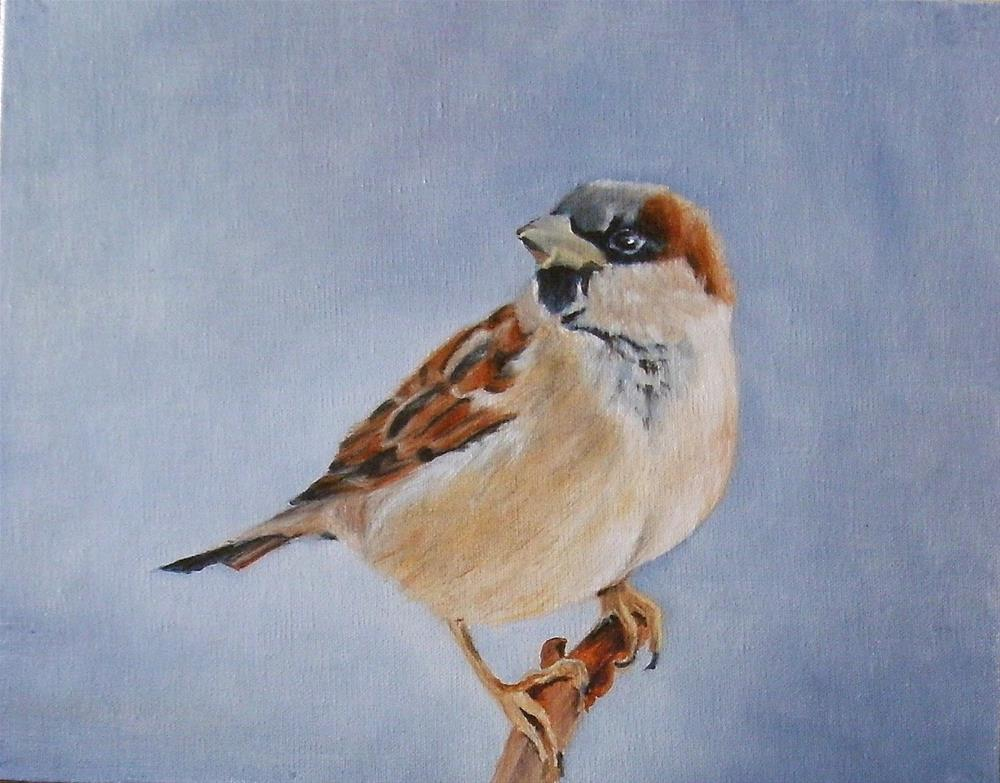 """Winter Sparrow"" original fine art by Lynn Darby"
