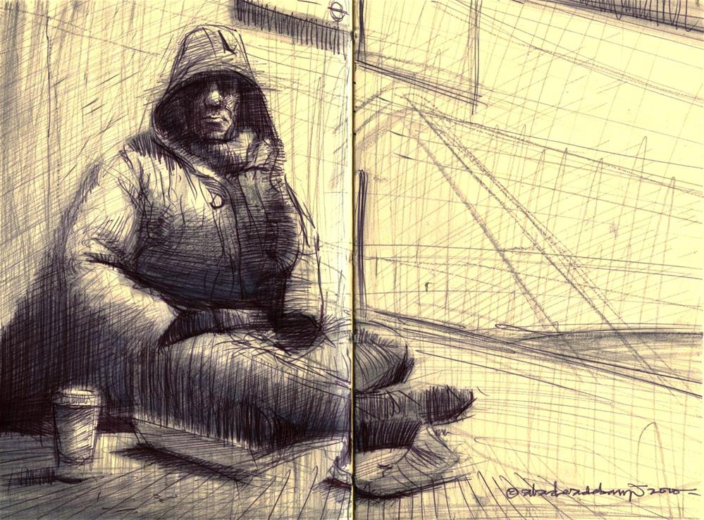 """The Chronicles of Homelessness II"" original fine art by Adebanji Alade"