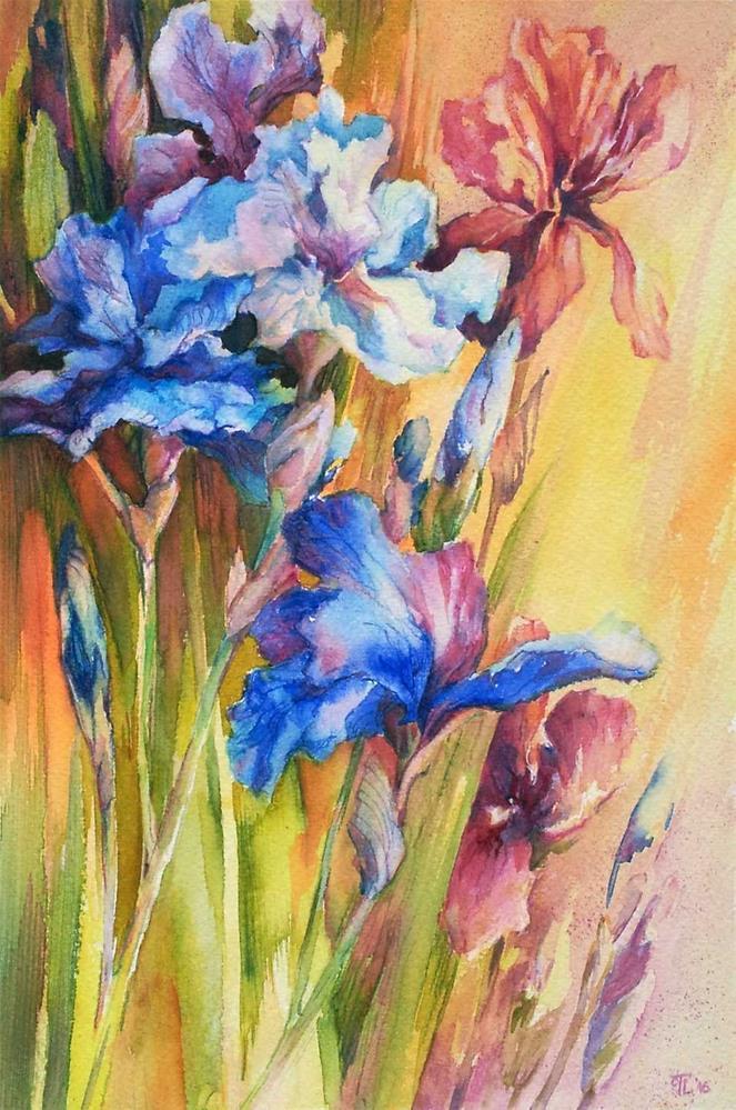 """Evening beauties"" original fine art by Olga Touboltseva-Lefort"