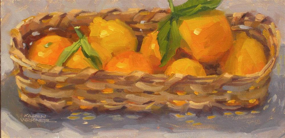 """Citrus Basket"" original fine art by Karen Werner"