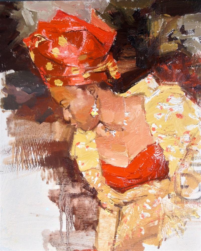 """The African Headgear IV"" original fine art by Adebanji Alade"