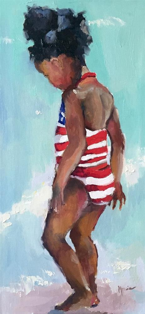 """""""Independence Day"""" original fine art by Marcia Hodges"""