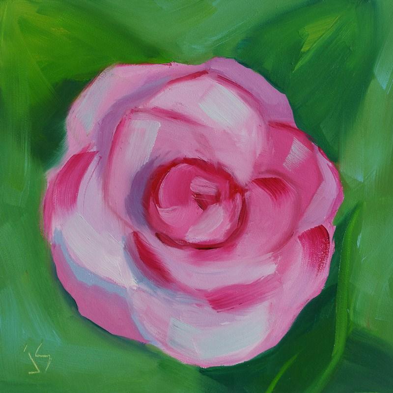 """Gorgeous Camellia"" original fine art by Johnna Schelling"