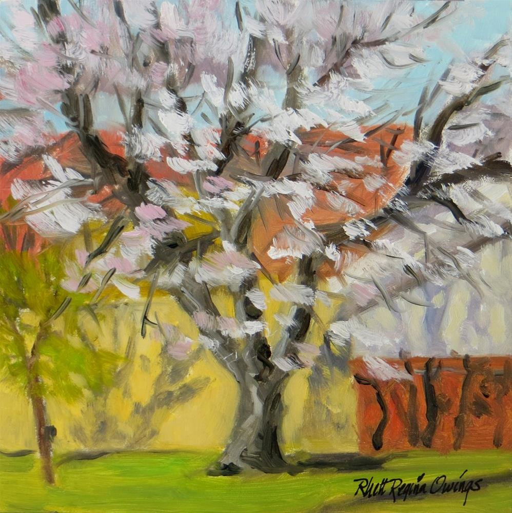 """Neighbor's Cherry Tree"" original fine art by Rhett Regina Owings"