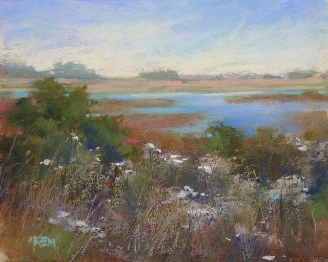 """A Tip for Creating Depth in a Pastel Painting"" original fine art by Karen Margulis"