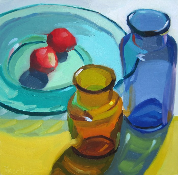 """Through the Glass Challenge"" original fine art by Robin Rosenthal"