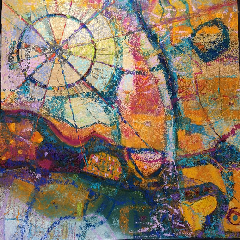 """The Map of Impressions"" original fine art by Karen O'Brien"