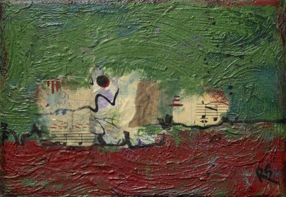 """Momentary Moon"" original fine art by Roberta Schmidt"