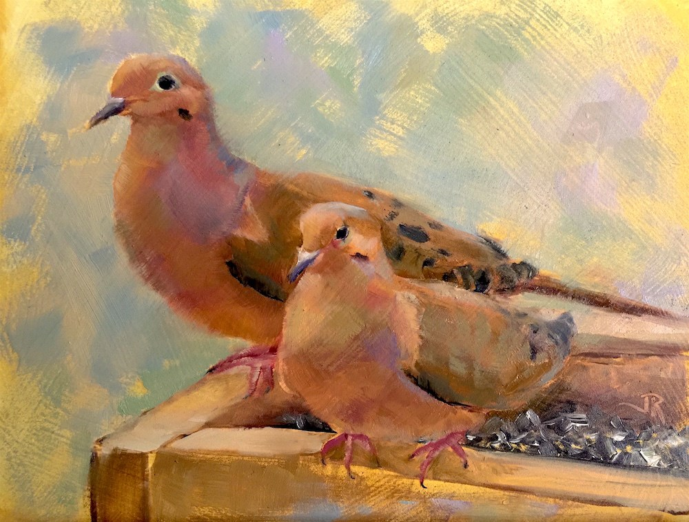"""It Takes Two"" original fine art by June Rollins"