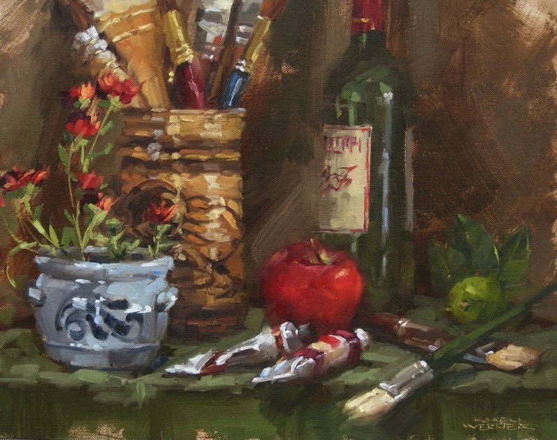 """Studio Props"" original fine art by Karen Werner"