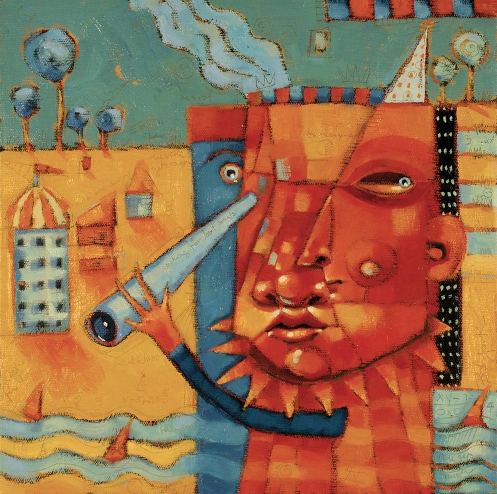 """""""Two Faced City Slicker"""" original fine art by Brenda York"""