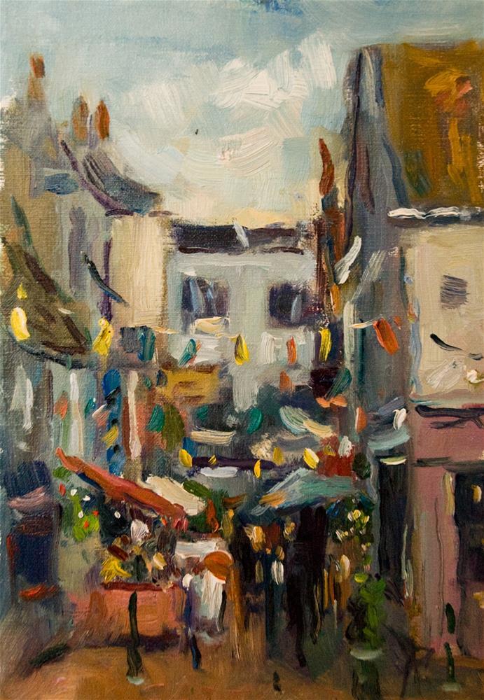 """The Lanes, Brighton"" original fine art by Andre Pallat"