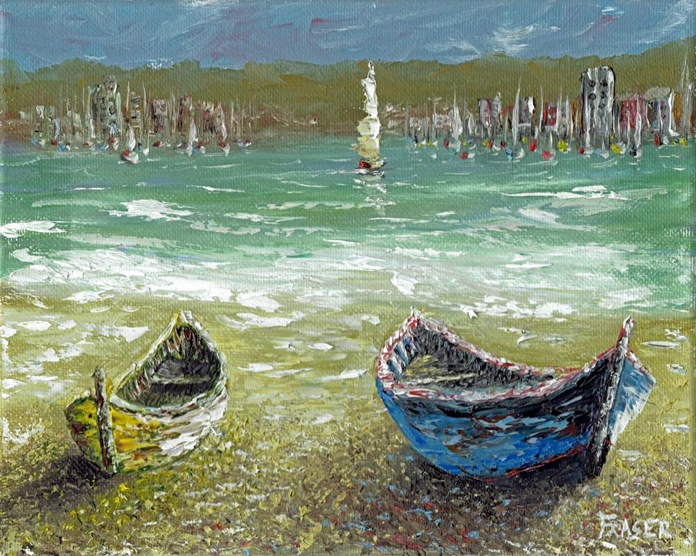 """Beached"" original fine art by Ken Fraser"